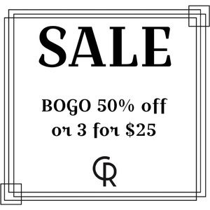 New Items Added Weekly! 3 for $25 or BOGO
